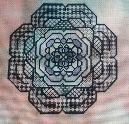 Blackwork Flower